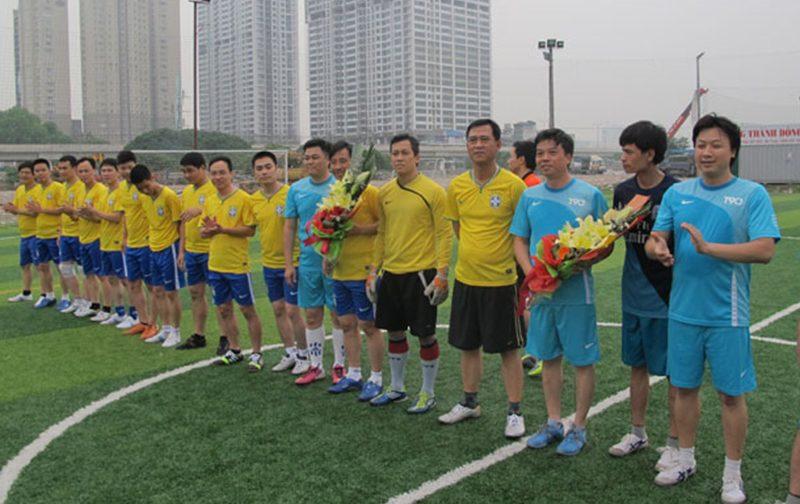 Giao hữu bóng đá chào mừng 60 năm Chiến thắng Điện Biên Phủ